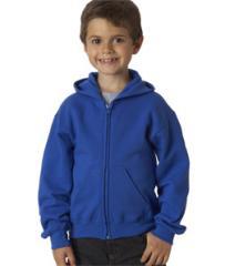 Gildan Youth Full-Zip Hooded Sweatshirt