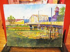 Gary Walters Keesler Bridge Color Painting
