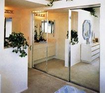 Aluminum Bypassing Mirror Doors