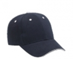 Brushed Bamboo Twill Sandwich Visor Low Profile Pro Style Cap