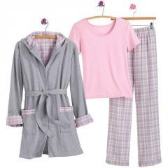 Plaid Pant Pajama Set