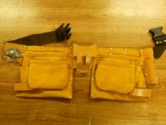 Leather Carpenters Tool Belt Bag