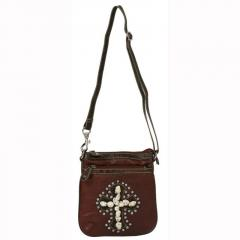 Women's Stone and Rhinestone Cross Body Purse