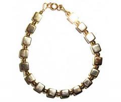 8mm 18k Gold Filled Bead Cube Bracelet
