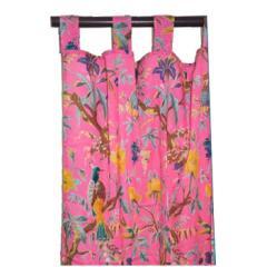 Karma Living Pink Floral Bird Window Panel