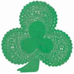 """Paper Doilies-6"""" Green Shamrock"""