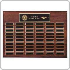 Contemporary Walnut Perpetual Plaque Award 12-60