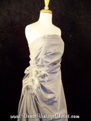 Alyce Ruched Silver Gray Prom Pageant Dress