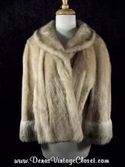 Vintage Blonde Glenoit Faux Fur Cape Wrap
