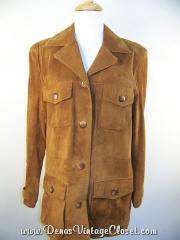 V Wear Camel Tan Suede Leather Jacket