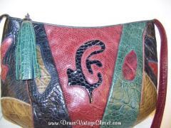 80s Vintage Leather Sharif Shoulder Bag
