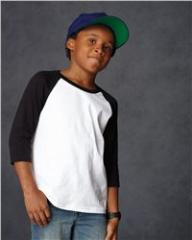 Youth Three Quarter Sleeve Baseball T-Shirt