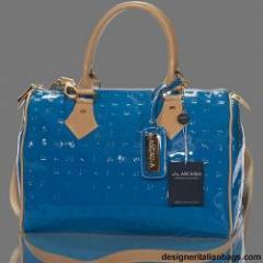 Arcadia Italian Designer Blue / Tan Monogram