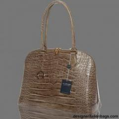 Arcadia Italian Designer Khaki Brown Croc Leather