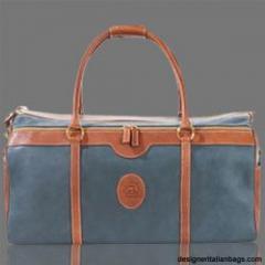 Terrida Italian Designer Marco Polo Blue Leather