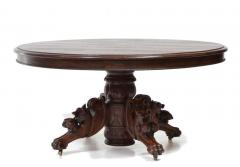 Carved Round French Hunt Table