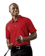 A82 adidas Golf Men's ClimaLite® Piped