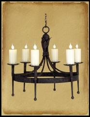 Old World Wrought Iron Chandelier