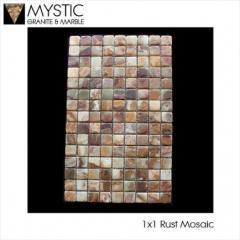 1 Inch Mosaic Tumbled Onyx Tile