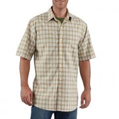 Lightweight Plaid Short-Sleeve Shirt