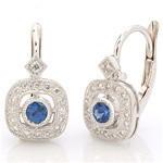 Beverley K 18KW Diamond and Sapphire Earring