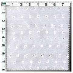 Fleur Delis Embroidered Puckered Eyelet Fabric