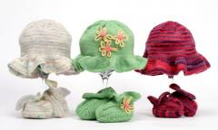 Ruffly Girly Hats and Bootie Kit