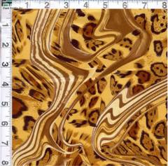 Charmeuse Leopard Swirl Fabric