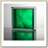 In-Colour Green Glass Block