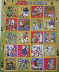 Quilting Treasures Animal Alpha Games 21000-S