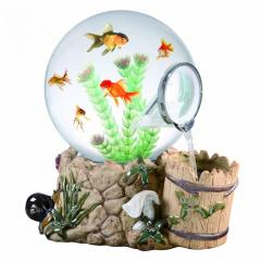 Fountain Well Magic Globe Fish Aquarium