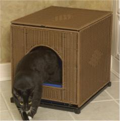 Wicker Litter Box Cover - Large