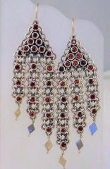 Fabulous Garnet and Sterling Silver Earrings