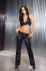 Ladies Black Leather Pants