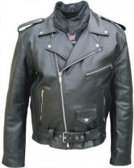 Classic Style Motorcycle Jacket with Neck Warmer