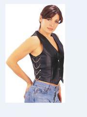 Women's Chain Loop Leather Vest