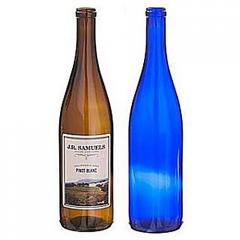 Tapered Corked Glass Wine Bottles