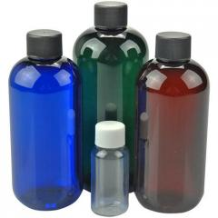 Boston Round Plastic Bottles - PET