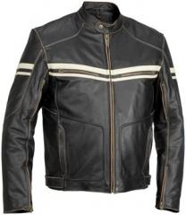 River Road Hoodlum Mens Leather Motorcycle Jacket