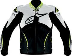 Alpinestars Atem Leather Motorcycle Jacket - White