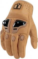 Icon Justice Leather Motorcycle Glove - Tan