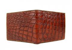 Rustic Alligator Bifold Wallet