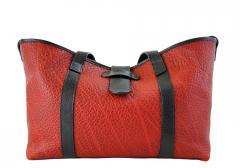 Shrunken Leather Handbag Tote - Medium