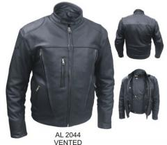 Mens Naked Leather Motorcycle Jacket