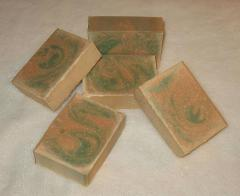 Amber Patchouli Olive Oil Cold Processed Soap