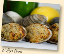 Stuffed Clams & Crab Cakes