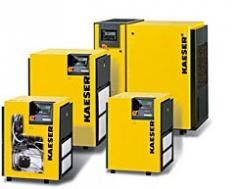 Rotary screw compressors with V-belt drive to 30 hp