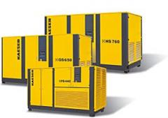 Rotary screw compressors with V-belt drive 335-600 hp