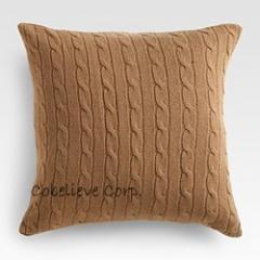 Cable Cashmere Pillow