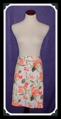 Women's Tan Orange And Green Floral Knee